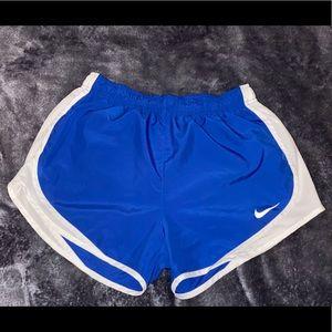 blue nike women athletic shorts